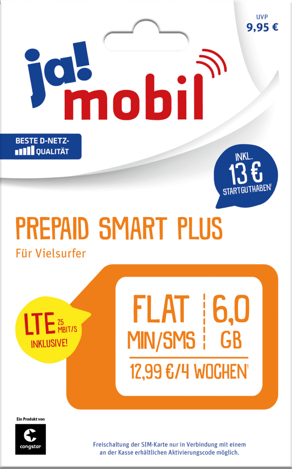 Ja Mobil Prepaid Smart Plus